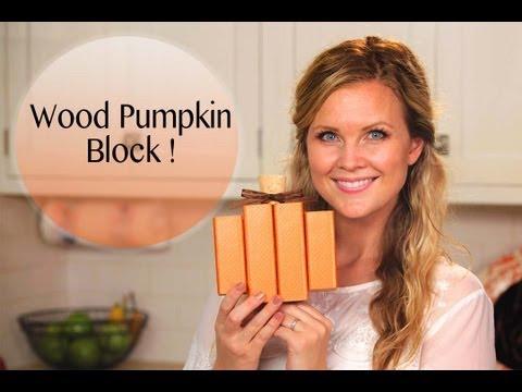 DIY Darling Wood Pumpkin!!