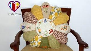 Almofada em patchwork de Gomos – Maria Adna Ateliê