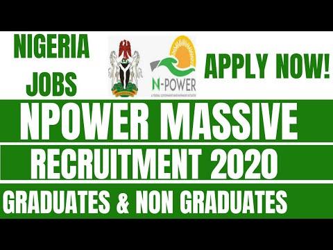 Download Apply Here! Npower 2020 Massive Recruitment for Graduates and Non-Graduates
