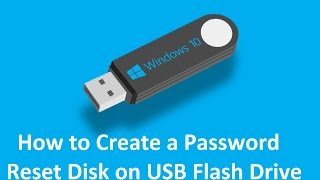 How to Create a Password Reset Disk on Usb in Windows 10 - Howtosolveit