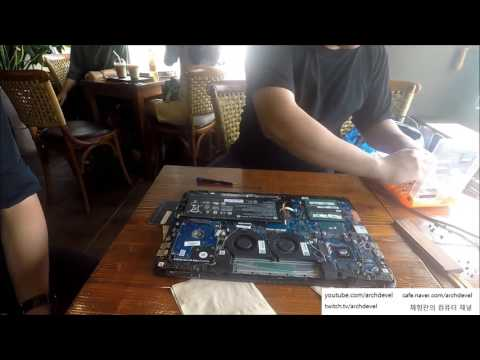 HP 게이밍노트북 OMEN 15 AX026TX 리뷰, 분해, 온도포함(HP GAMING LAPTOP OMEN 15 THERMAL REPASTE)