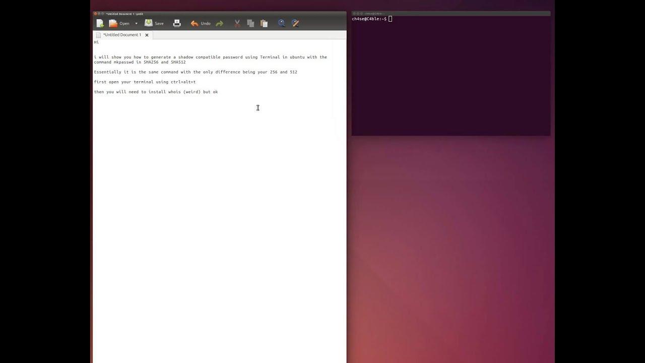 Ubuntu mkpasswd how to SHA256 and SHA512