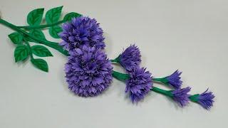 Stick Flower: Easy DIY Paper Handcraft Stick Flower Making Tutorial | Jarine's Crafty Creation