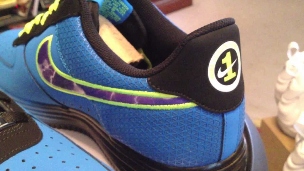 online store 81312 74ea3 @Nike Lunar Force 1 LF-1 Leather - KD Super Heroes pack - Photo Blue /  Court Purple / Volt - YouTube