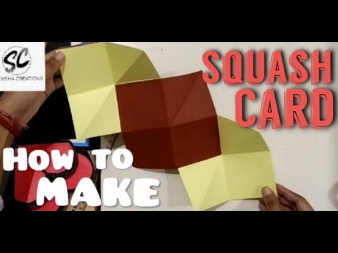How to make squash card | swekshacreations | art and craft