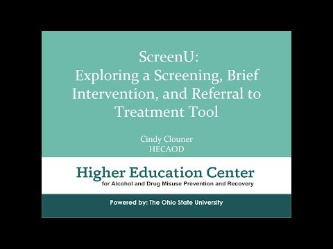 ScreenU  A Web Based Screening, Brief Intervention and Referral to Treatment Tool