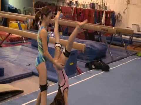 Gymnastics Leg Strength And Conditioning Training With Resistance