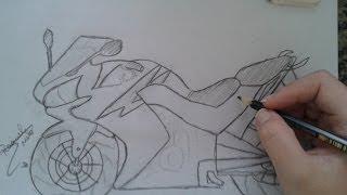 Como desenhar moto-cb 500r honda