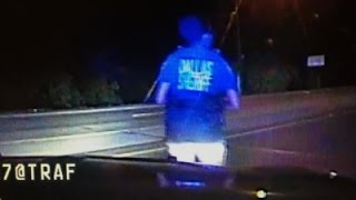 Raw: Dallas Officer Attempts to Stop Gunman