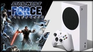 Xbox Series S   Star Wars The Force Unleashed   Backwards Compatible test