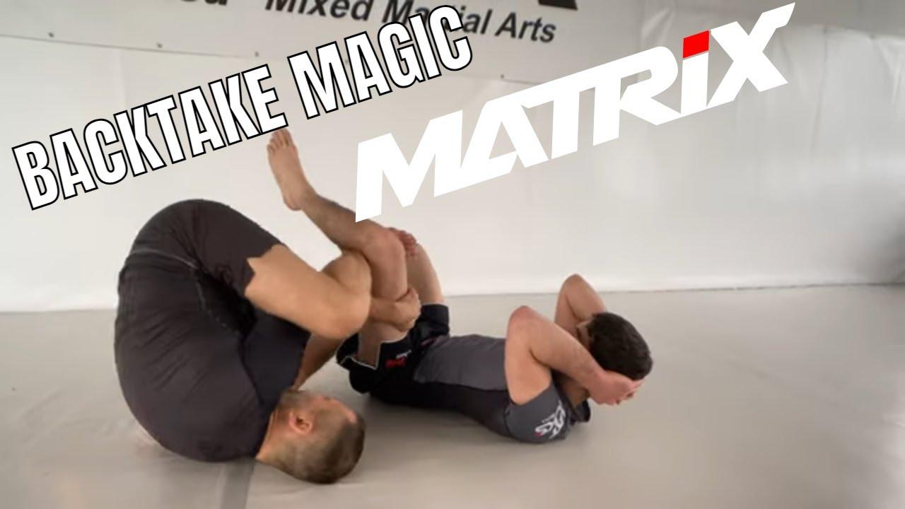 Take the Back vs Supine Guard. Works best in Scrambles! - Matrix Jiu Jitsu