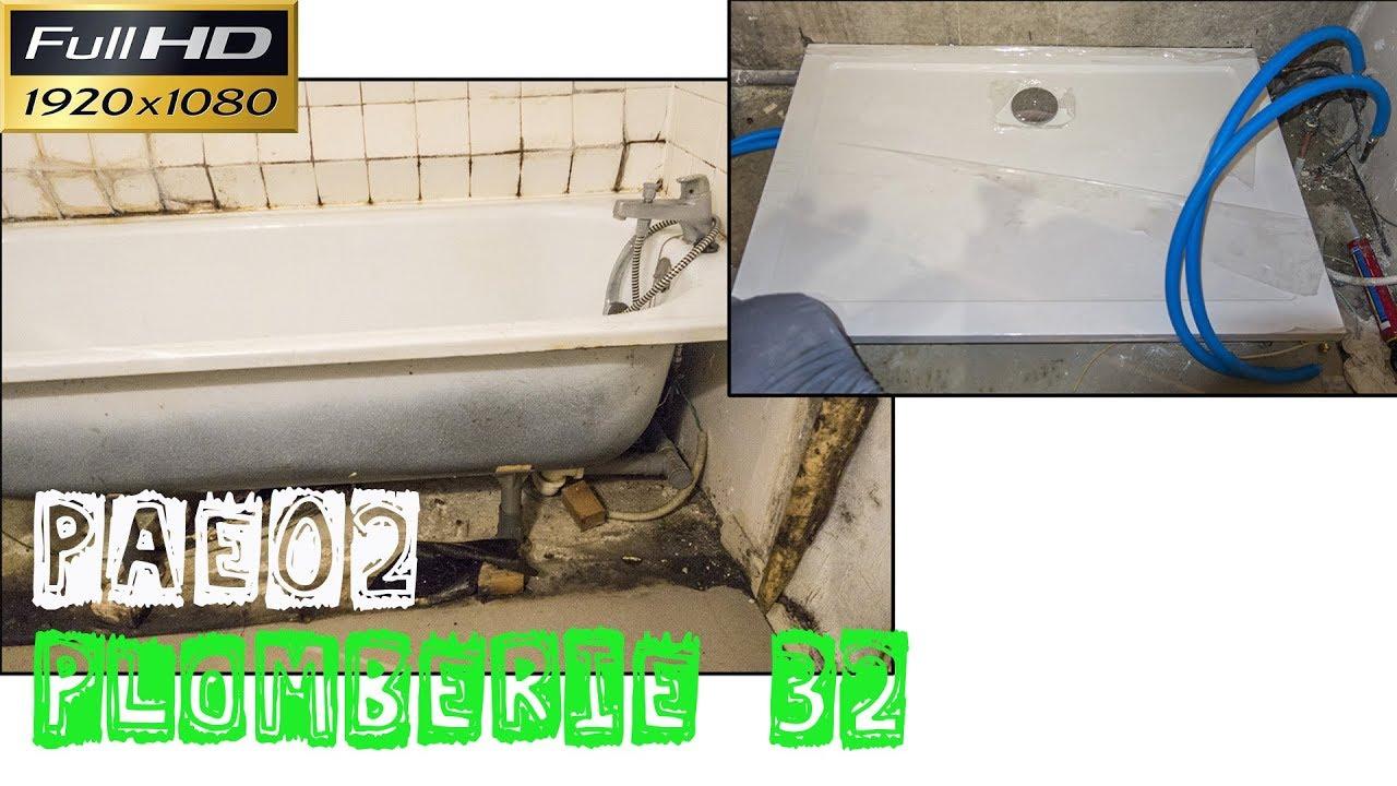 Plomberie32 pae02 le remplacement d 39 une baignoire par un - Remplacement d une baignoire par une douche ...