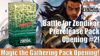 MTG Battle for Zendikar Prerelease Pack Opening #2! Magic the Gathering!