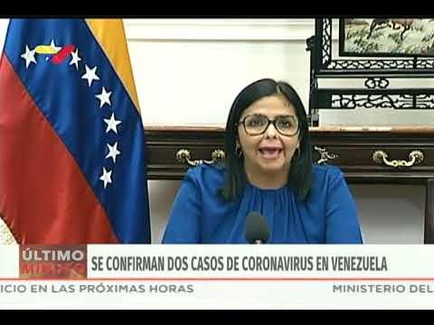 Reporte coronavirus Venezuela, 13/03/2020: Delcy Rodríguez confirma primeros 2 casos