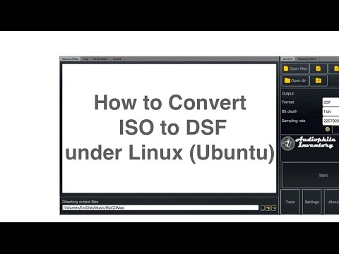 How to Convert ISO to DSF under Linux Ubuntu - YouTube
