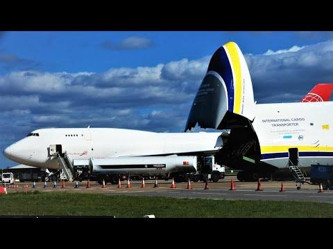 RARE! Antonov 124 + Boeing 747 at Doncaster Airport, 24/03/19