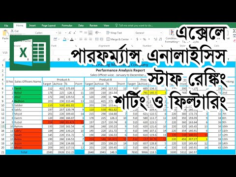 employee,-staff-performance-analysis-||-microsoft-excel-bangla-tutorial