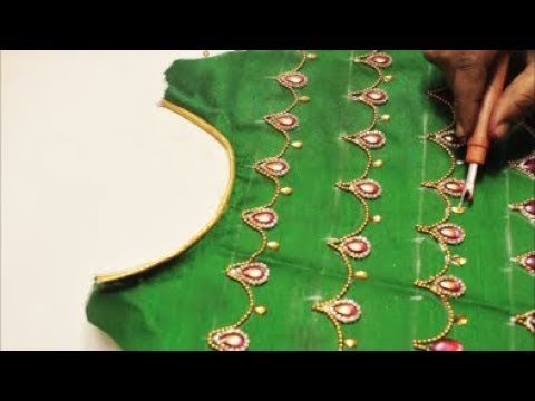 Hand Made Designer Blouse Very Simple Easy To Make Perfect For