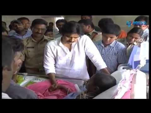 Pawan Kalyan shed tears after meeting Srija in Khammam Hospital