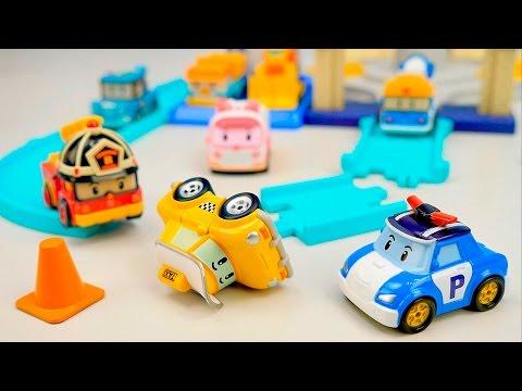 ПОЛИ РОБОКАР Машинки Кэп попал в АВАРИЮ Развивающее видео для детей про Машинки Robocar Poli