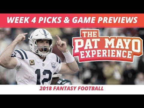 2018 Fantasy Football — Week 4 Picks, NFL Game Previews, Injuries And Survivor