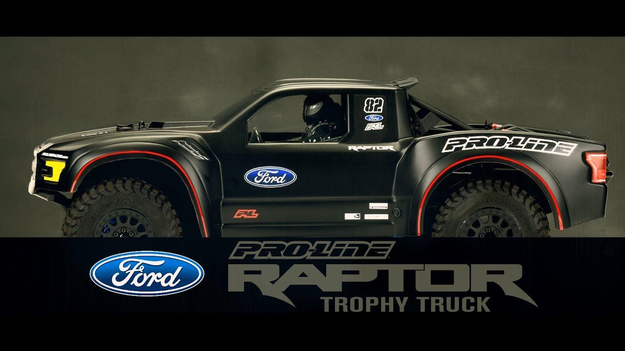 pro line 2017 ford f 150 raptor trophy truck clear body. Black Bedroom Furniture Sets. Home Design Ideas