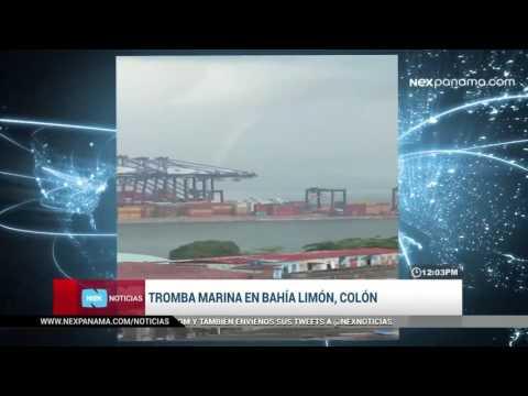 Tromba marina en bahía Limón, Colón