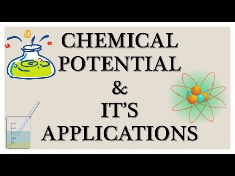 CHEMICAL POTENTIAL AND ITS APPLICATION