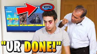 Dad PUNCHES kid after doing this... (fortnite)