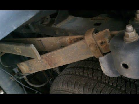 2011-2018 Chevy Silverado or GMC Sierra broken leaf spring replacement.