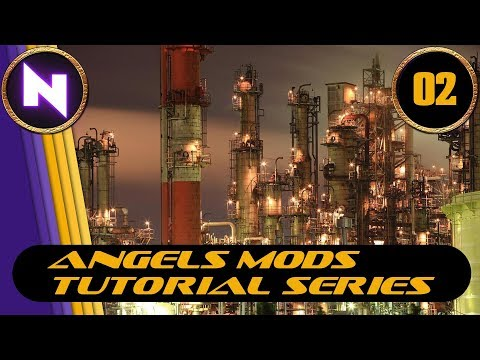 Factorio 0.16 - Angels Mods Tutorials #2 BASIC REFINING