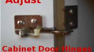 Adjusting Cabinet Door Spring Hinges