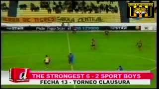 THE STRONGEST 6 Sport Boys 2, Relato El Derribador, Clausura 2014-2015