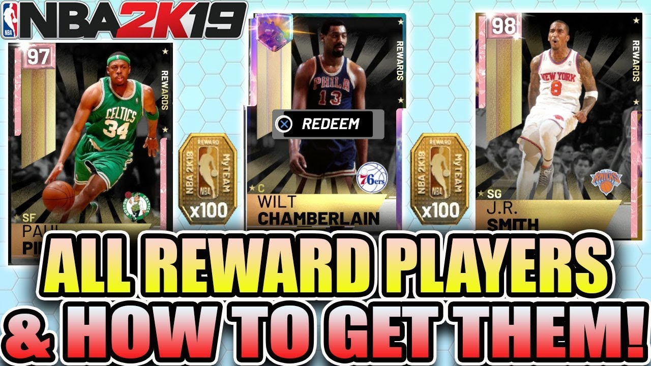 NBA 2K19 ALL REWARDS IN MYTEAM AND HOW TO GET GALAXY OPAL AND PINK DIAMONDS  PLAYERS