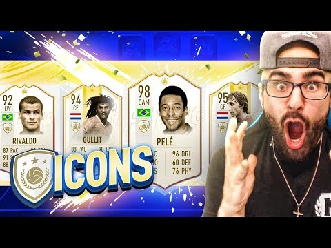 OMG MOST ICON IN A DRAFT!! 196 DRAFT CHALLENGE! FIFA 19 Ultimate Team