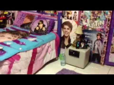 My Justin Bieber Room - YouTube  My Justin Biebe...