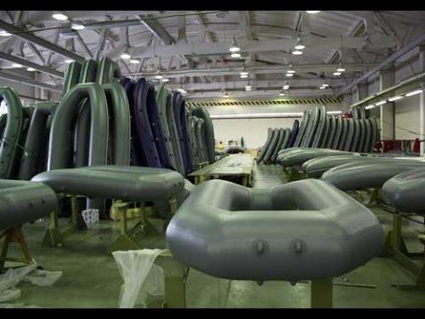 Надувные лодки ПВХ. Как их делают