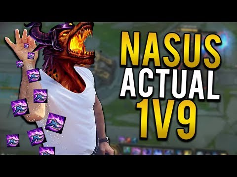 NASUS ACTUAL 1V9...TIRED OF HAVING TO DO EVERYTHING!!!!!! - Trick2G