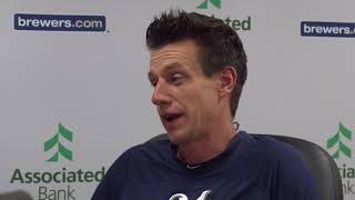 Brewers manager Craig Counsell talks about Corey Knebel's tendinitis