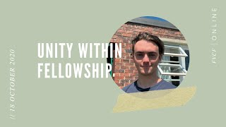 Unity Within Fellowship (Tobie Botha) | Sunday Evening Service