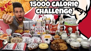 KFC 15000 Calorie Challenge - Italiano Cheat Day - MAN VS FOOD (ENG SUB)
