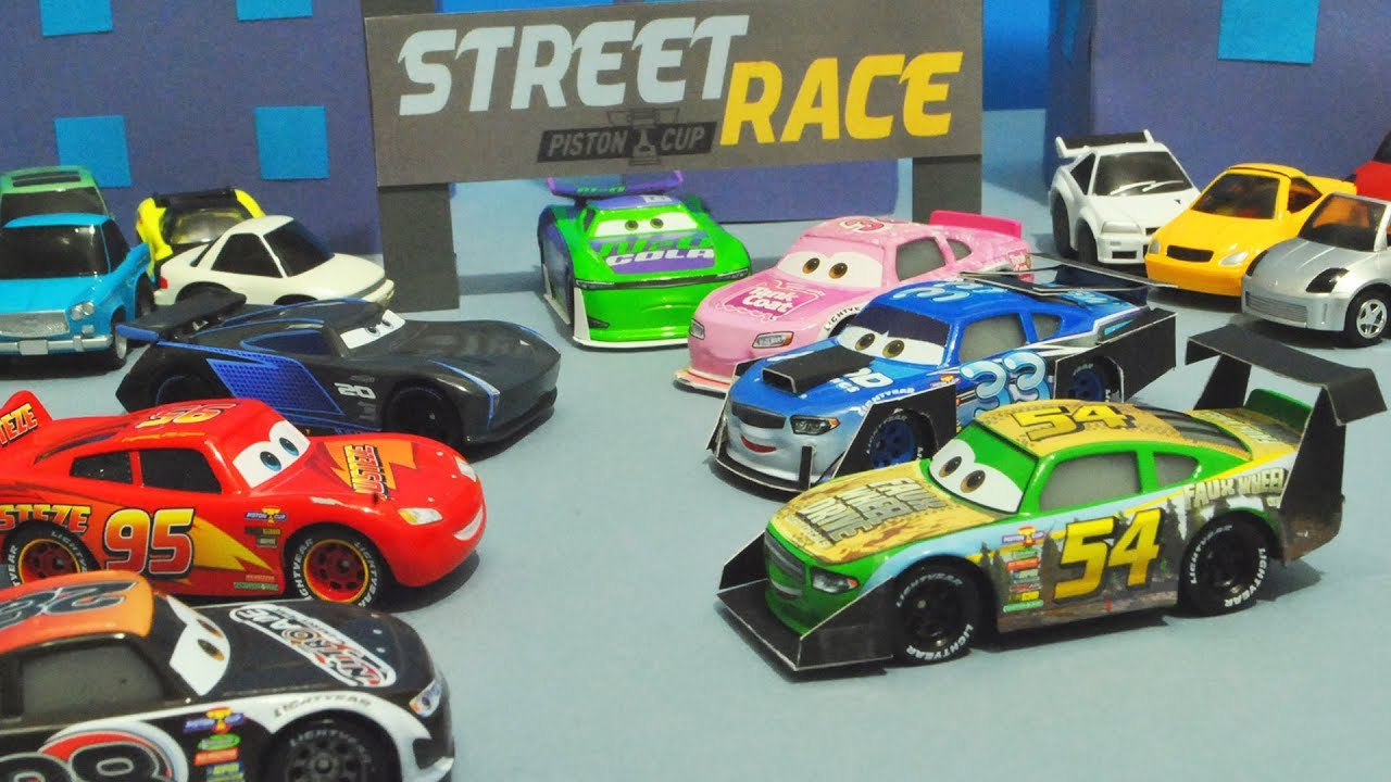Cars Cup Disney Piston 3Street RacersStopmotion fgbY76y