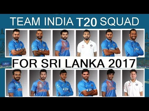 Team India ODI & T20I Squad For Sri Lanka 2017 || India Complete Player List For Sri Lanka 2017 ||