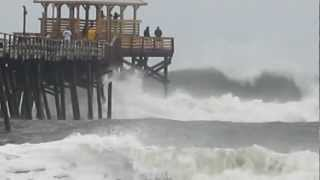 Sandy arrives in Atlantic Beach, NC