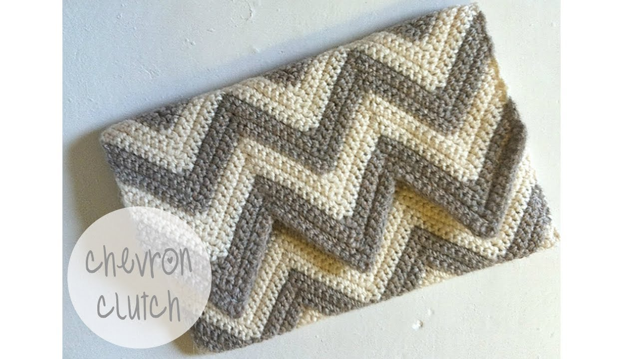CROCHET TUTORIAL - CHEVRON CLUTCH - YouTube