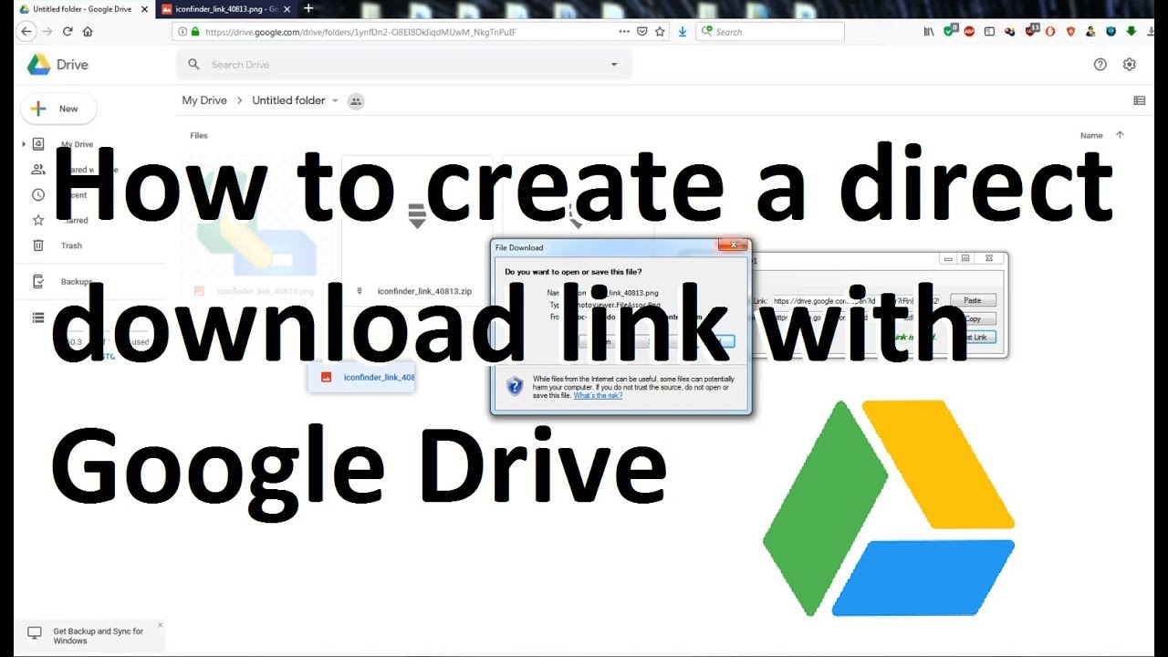 How To Create A Direct Download Link From Google Drive Youtube