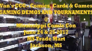 Preview of Van's CCG - Gaming Event at MS Comic Con 2017