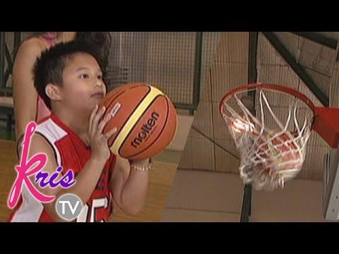 Bimby shows his dribbling and shooting skills on Kris TV