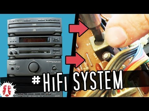 What Can You Find & Reuse Inside An HiFi Integrated Stereo System / HOW TO Recover Parts #FreeStuff