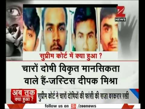 Supreme Court gives death sentence to 4 Nirbhaya gangrape convicts